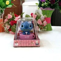 battery flap - Retail Package Price Swing Under Full Light No Battery Novelty Flip Flap Happy Dancing Solar Cartoon Cup Stitch Toys