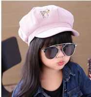 Wholesale Spring Autumn New Children Fashion Cartoon Hats Baby Girl Cotton Sun Caps Ear Muff For Years Kids J0110