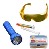 Wholesale Airkoul Auto Leak Detector Leds UV Light Led Flashlight A C Fluid Gas Safety Glasses