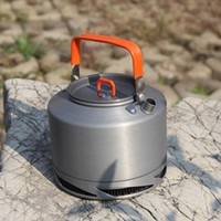 Wholesale Portable Anodized Aluminum L Fire Maple FMC XT2 Heat Collecting Exchanger Kettle Tea Coffee Pot Outdoor Camping Picnic Cookware Drawstrin
