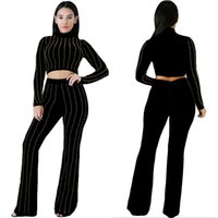 Wholesale Hot Sale New Fashion Sexy Europe Style Pretty Elegant Hot Drilling Tight Two piece Suit Autumn And Winter Pants