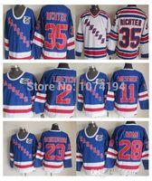 best mike - 2016 Best Quality Jeff Beukeboom Jersey Stadium Series New York Rangers Tie Domi Mike Richter Alumni Royal Blue Jersey