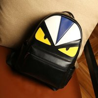 bag cartoon image - Cute image monster backpack fashion pu daily girls backpack oem image bag backpack
