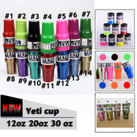 auto mugs - New Yeti oz oz oz Yeti Cups Yeti Coolers Cups YETI Travel Vehicle Beer Mug Double Wall Bilayer Auto cup