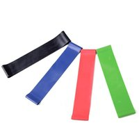 Wholesale 4 Levels Resistance Bands with different color Yoga Gym Strength Training Fitness Band Elastic nature Rubber Resistance Loop exercise band