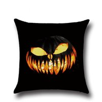 bay window cushion - Halloween Pumpkin series45x45cm pillow case Bay window Cotton Linen pillow Cover For Chair Seat Cushion case18x18 in BZ05