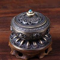 air fresheners home - Retro Lotus Tibet Alloy Metal Bronze Craft Incense Burner Holder Home Diffuser Frabrance Air Fresheners Cneser Z00D819