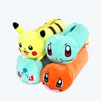 Wholesale 4 Design Poke Pencil Bag with Zipper Cartoon Coin Purse Case Plush Bag Gift for Baby Kids Children
