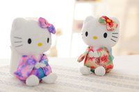 Wholesale Chinese valentine s day promotional gifts kimono KT cat cute little doll Wedding spilling claw machine doll