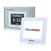 Wholesale Excelvan quot Digital Calendar Day Clock Extra Large Non Abbreviated Day Week Month Auto Dimming With Language EU Plug in China