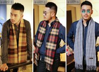 autumn cashmere scarf - HOT SALE New Colors Cashmere Men s tassel British winter scarves and autumn scarf men with colorful plaid Men s business casual scarves