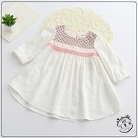Wholesale Baby Girl Bohe Dress Toddler Girls Plaid Embroidery Summer Dresses Spring Princess Dress For Party Kids Clothing Girls Costumes S039