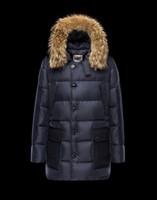 Wholesale Luxury Brand Jacket anorak men winter jacket men real raccoon fur jacket winter thick Down and Parka Anorak jacket