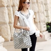arts interior - 4 Color Handbags Totes Fashion Lady Origami Art Geometry Handbag Women Lucent Laser Effect Tote Bag