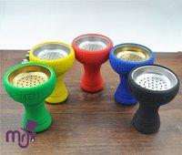 Wholesale Pc Silicon Shisha Hookah Bowl Silicone Head With Metal Tray For Shisha Tobacco Charcoal Holder Hookah Bowl