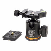 Wholesale QZSD Q06 Aluminum Tripod Ball Head With Quick Release Plate Two levels Max Load KG For Benro Manfrotto Q999S Tripod Head
