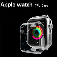 Wholesale Apple Watch Case Ultra Thin Slim Crystal Clear Transparent TPU Cover Skin For Apple Watch2 mm mm iwatch