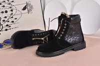 Wholesale Ladies Heeled Waterproof Leather Boots - Hot New Item Womens Suede Leather Balmain Weave Style Waterproof Boots Wholesale Ladies Fashion Short Boots