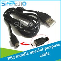 Wholesale PS3 wireless Controller charging cord Mini USB charge cable m in length high quality charger line