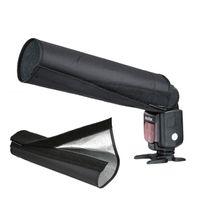 Livraison gratuite Universal Foldable Snoot Lumière Flash Beam Pad Softbox Tissu pour Canon EOS Nikon Flash Camera