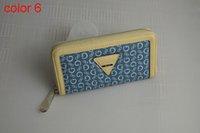 Wholesale fashion women PU leather wallet long zipper purse European style new arrival color1