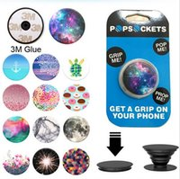 Wholesale PopSockets Expanding Stand and Grip for Tablets Stand Bracket Phone Holder Pop Socket M Glue for iPhone Samsung Note7 B ZJ