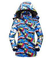 Wholesale 2016 winter women ski wear waterproof thicken thermal jackets and coats for skiing and snowboarding warm snow lichens