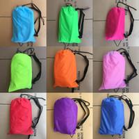 Wholesale cm Inflatable Lazy Bag Air Sofa T Nylon Laybag Air Sleeping Bag Camping Portable Beach Bed Lazy Bag Air Lounger