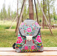 ba cover - Chinese Ethnic Embroidery Women Handmade Shoulder Bag Embroidery Pack Leisure Travel Package Student Pack Color Flower Package canvas ba