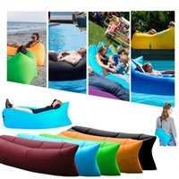 Self-inflating outdoor portable chairs - Fast Inflatable Sofa Air Sleeping Bags Beach Lounger Hangout Couch Portable Camping Hiking Beds Lazy Outdoor Beach Lay Chairs OOA450