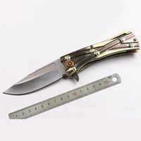 bamboo knife - Microtech Bamboo Joint Knives Hunting Tactical D2 HRC Folding Blade Titanium alloy cm Blade Length Knives for Outdoor
