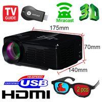 Wholesale New projector keystone EZCast wifi display Mirror HD TV led mini video lcd p d Proyector Projetor