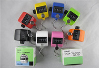 Wholesale Multicolor Tally Clicker Counter Digital Number Clicker Golf Digital Chrome Hand Held Finger Display