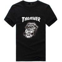 achat en gros de marque pas cher nouvelle fraîche-2017 Thrasher Cool T-shirt Hommes d'hommes de femmes de Hip Hop Style Brand New Lovers Coton Haute qualité Chemises de bas de copie d'impression