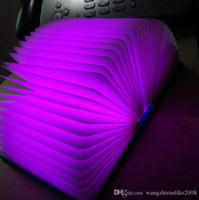 Party & Decorative Lights airlines charges - Hot selling Led Book Five colors book lamp Small night light USB charging LED folding book light Colorful reading lamp DHL free