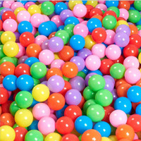 200pcs / lot Eco-Friendly Colorful Soft Plastic Water Pool Ocean Wave Ball Bébé Funny Toys Stress Air Ball Outdoor Fun Sports