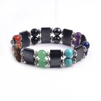 Wholesale 2017 Natural stone bracelet Double crystal bracelet with full pave crystal wrapped bracelets with full crystal