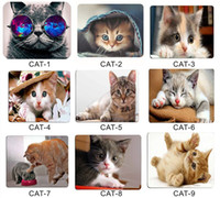 Wholesale Cat Wear Glasses Lovely Picture Anti Slip Laptop PC Mice Pad Mat Mousepad For Optical Laser Mouse cmx18cm from rubber smooth fabric