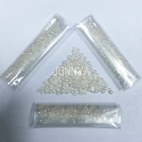 Wholesale mm Beige Imitation Pearls Half Nail Designs Nail Art Rhinestones Decoration D Decorative Rhinestone For Nails
