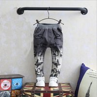 Wholesale 2017boys jeans casual jeans embroidered letters children jeans hot sale