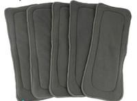 Acheter Bébé tissu réutilisable couche nappy-2015 Le vendeur paie / Livraison gratuite Naughty Baby Charcoal Bamboo 20pcs 5 couches (3 + 2) Paquet de bébé réutilisable Diaper pads Nappy Inserts