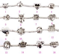 Wholesale Beads Charms with Hollow Full Love Heart Bead Charm Fit Women Diy Charm Snake Bead for Chain Bracelets Bangles
