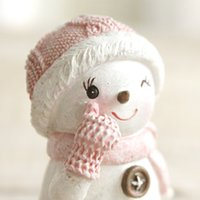 Wholesale nvwang123 Home Christmas Piece Resin Decor Snowman Decor Cute Resin Craft Gift for Friend Wedding