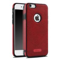 Para el iphone rojo 7 7 más la galaxia S8 de Samsung de la caja de cuero más el borde S6 S7 que costura las cajas del teléfono celular de la protección de TPU