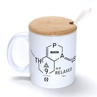bamboo symbols - Chemical symbols Mug Coffee Milk Ceramic Cup Creative DIY Gifts Mugs oz With Bamboo cover lid Spoon S210