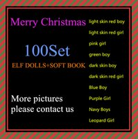 Wholesale Free DHL Shipping Style Christmas Elf Doll Plush toys Elves Xmas dolls and Soft Back Books on the shelf For Kids Holiday Christmas Gift