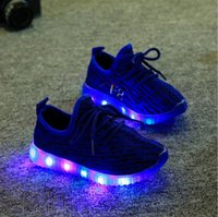 Wholesale 21 Size New Fashion Cute LED Lighting Children Shoes Hot Sales Lovely Kids Sneakers High Quality Cool Boy Girls Shoes