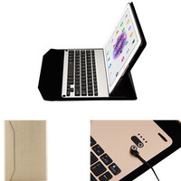 Wholesale Bluetooth Version Wireless Alloy Keyboard Leather Case for Ipad Pro12 quot Folding Stand Holder High Quality Ultra Thin Protective Cover