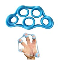 Wholesale 2016 new Hot Sale ProCircle Hand Resistance Band light blue Yoga Exercisers Finger Stretcher