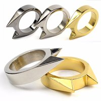 Wholesale Safety Ring Tool EDC Self Defence Stainless Steel Ring Finger Defense Rings